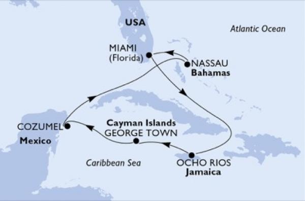 MSC Seaside - Káprázatos karibi hajóút Miamiból