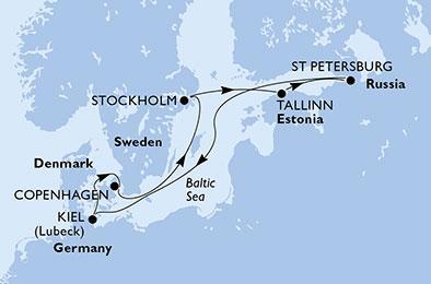 8 napos hajóút - Észak-Európa ékkövei - MSC Preziosa