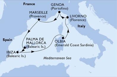 Csoportos hajóút - Lenyűgöző városok és varázslatos szigetek - MSC Opera
