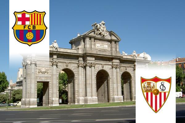 Barcelona - Sevilla kupadöntő repülős út