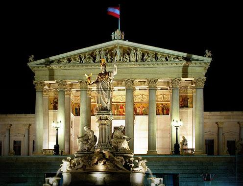 Advent Bécsben + Osztrák Parlament látogatás