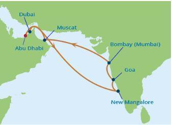 Az Emirátusok és India - Csoportos hajóut - Celebrity Constellation