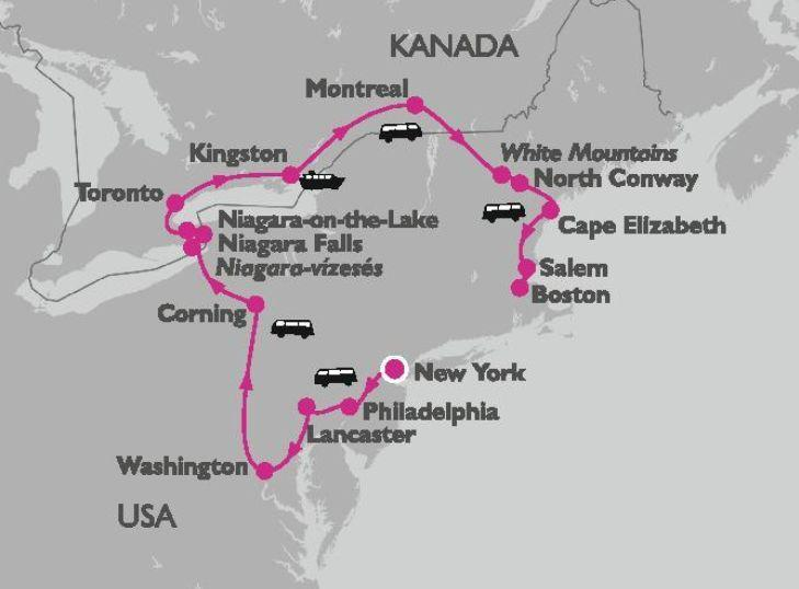 Usa Keleti Part Niagara Vizeses Es Toronto Csoportos Korutazas