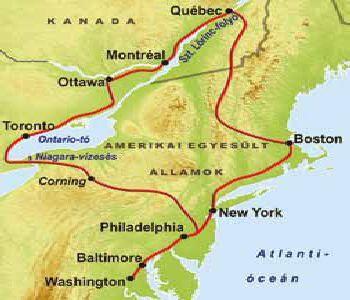 Usa Keleti Part Kanada Korutazas Travelplaza Utazasi Iroda