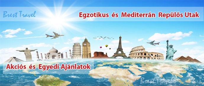 Repülős egzotikus és mediterrán nyaralások 2016