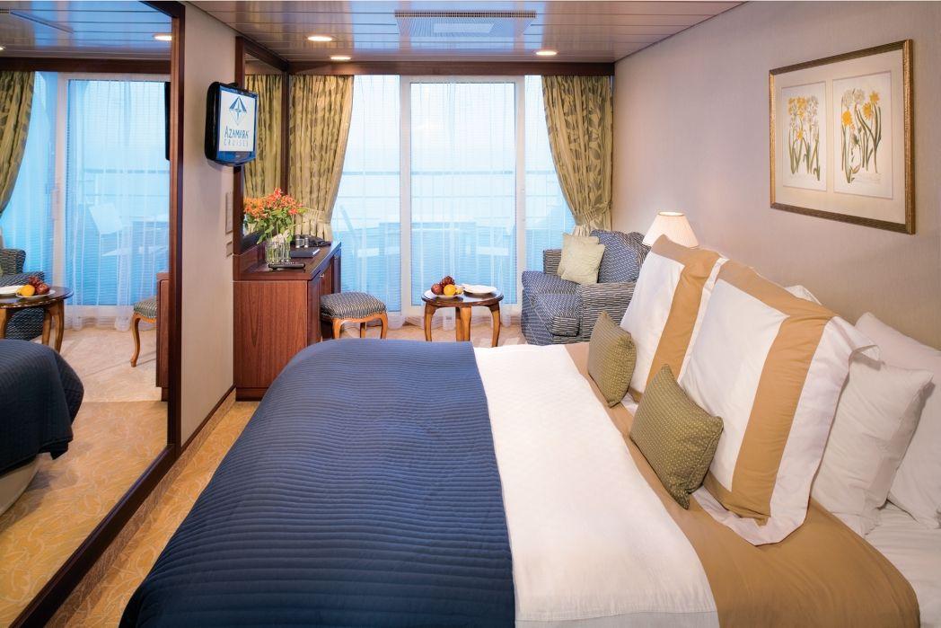 Azamara Club Cruises balkonos kabin