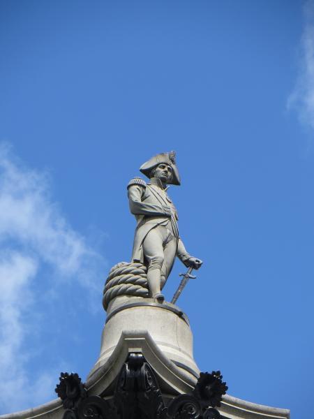 London - Nelson szobor közelről