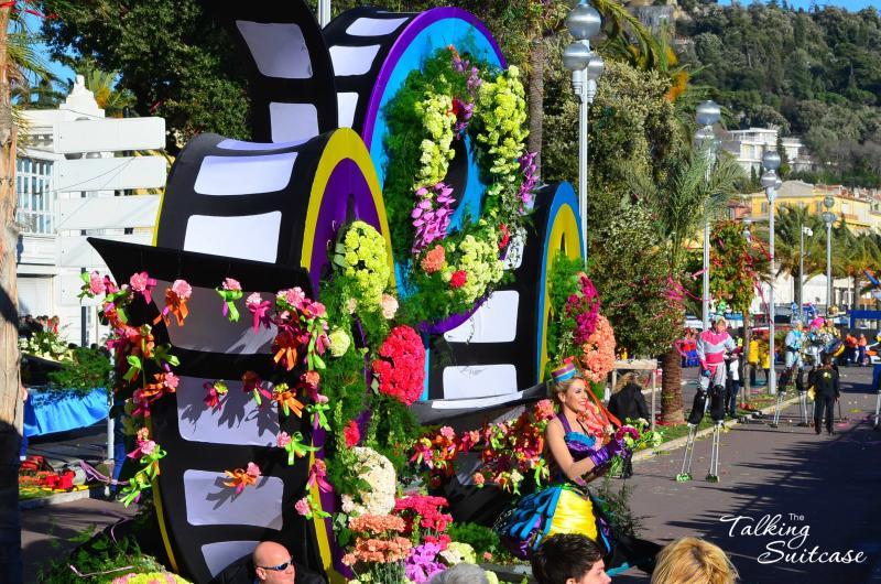 Virágba borult Nizza|virágszobrok