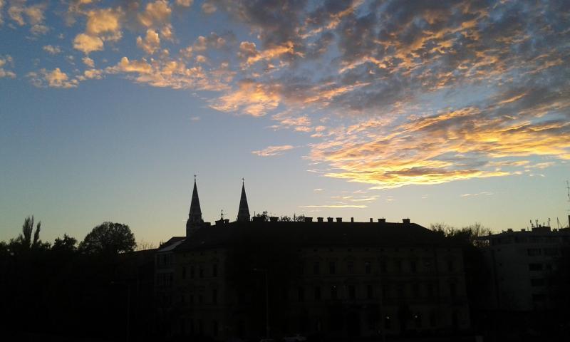 Szeged naplemente
