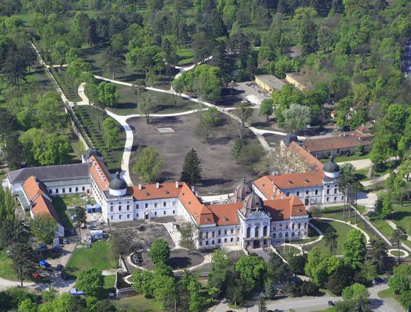 Gödöllő - Grassalkovich-kastély légifotó