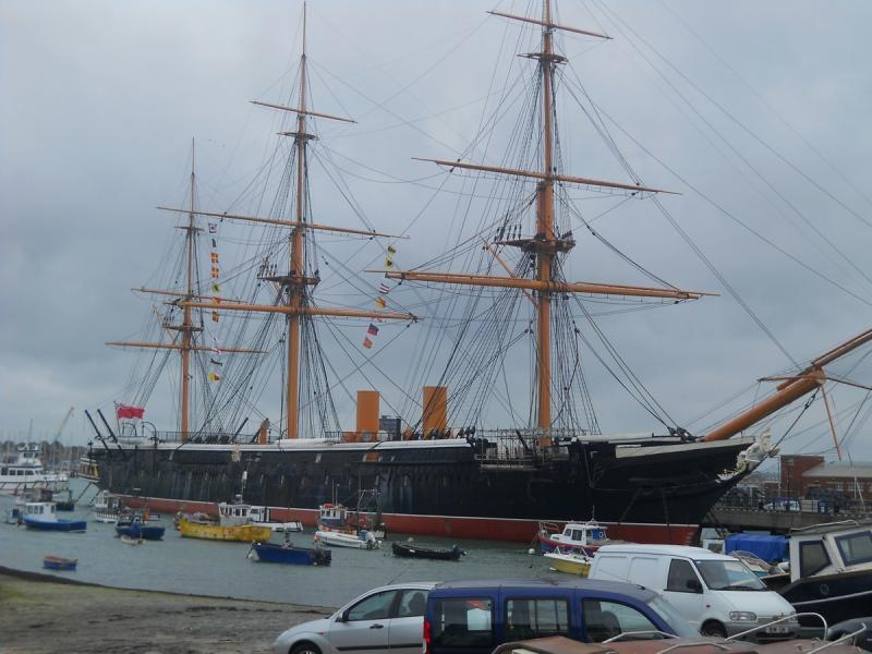 Portsmouth - HMS Warrior, korának legerősebb hadihajója