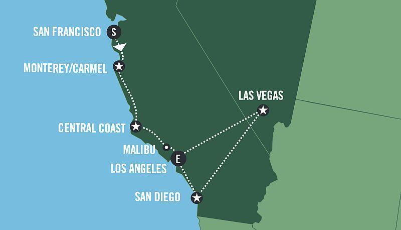 GOLDEN CALIFORNIA - Fly & Drive program