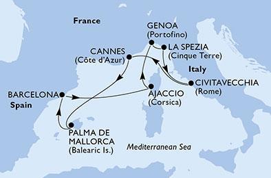 Csoportos hajóút - A művészetek és a történelem gyöngyszemei - MSC Seaview