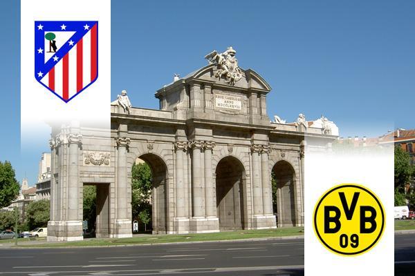 Atlético Madrid - Dortmund BL repülős út