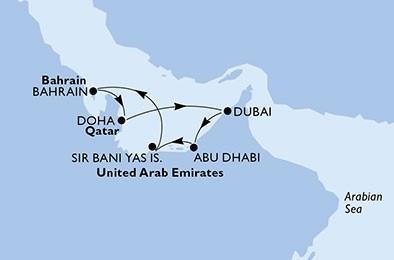 Csoportos hajóút - Perzsa-öböl gyöngyszemei luxushajóval Dubaiból
