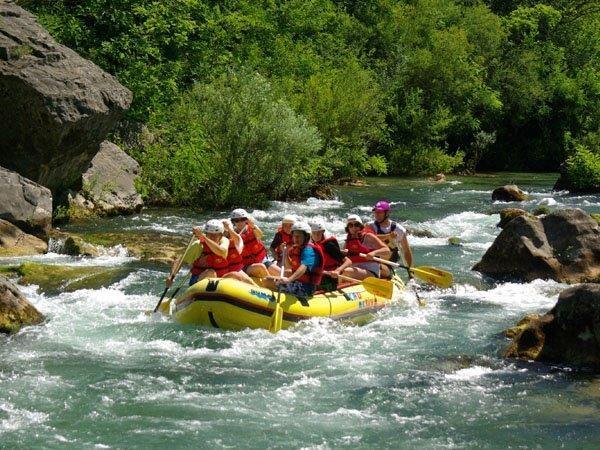 rafting a Cetina folyón