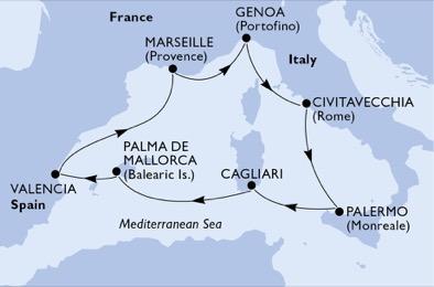 Baleár és Tirrén-tengeri ékkövek Csoportos Hajóút