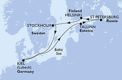Fővárosok A Balti-tengeren Csoportos Hajóút