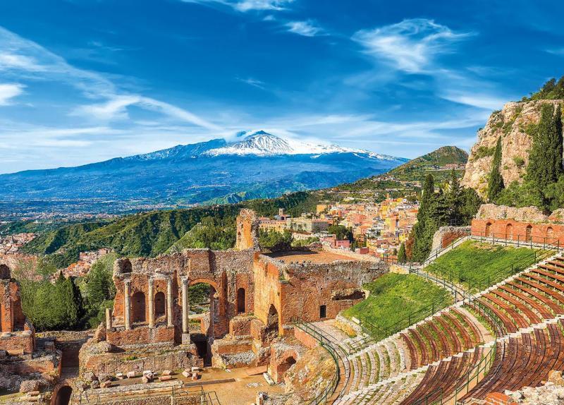 Szicília mandulavirágzás idején