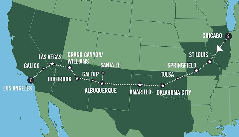 HISTORIC ROUTE 66 - Fly & Drive program