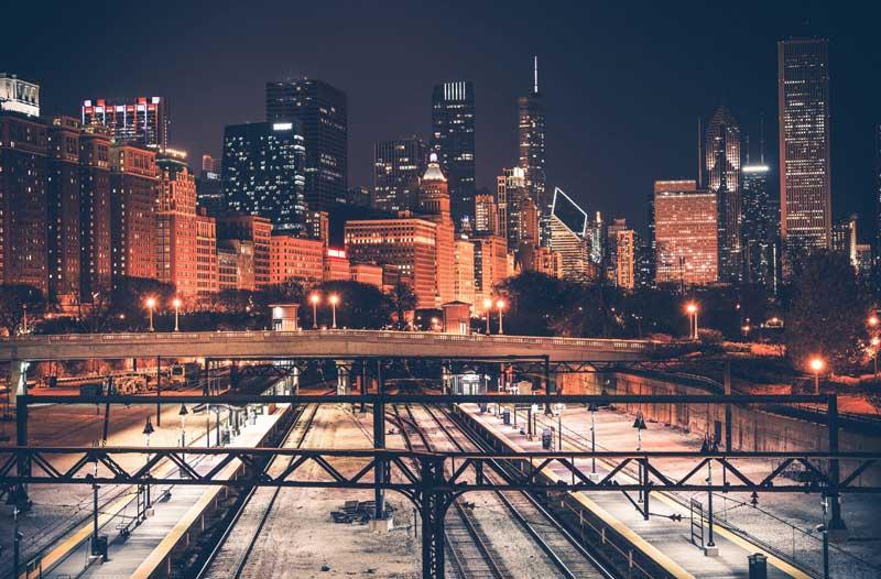 Chicago városi fényei